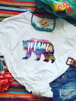Mama Bear Colorful Printed Tee