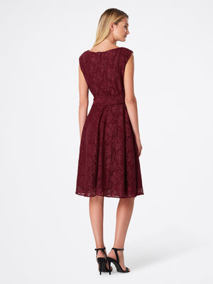 Shimmer Lace Side-Tie Dress