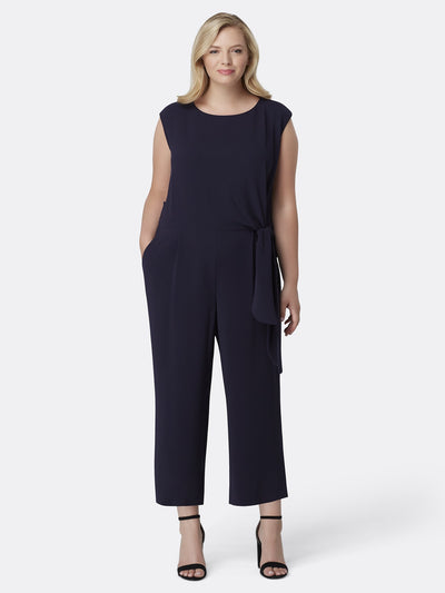 3860360bcde Sleeveless Stretch Crepe Jumpsuit