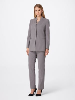 Star-Neck Bi-Stretch Pantsuit