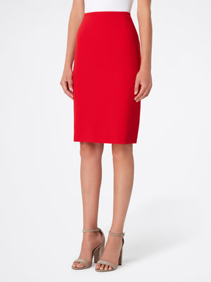 Pebble Crepe Peplum Skirt Suit