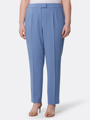 One-Button Pebble Crepe Pantsuit