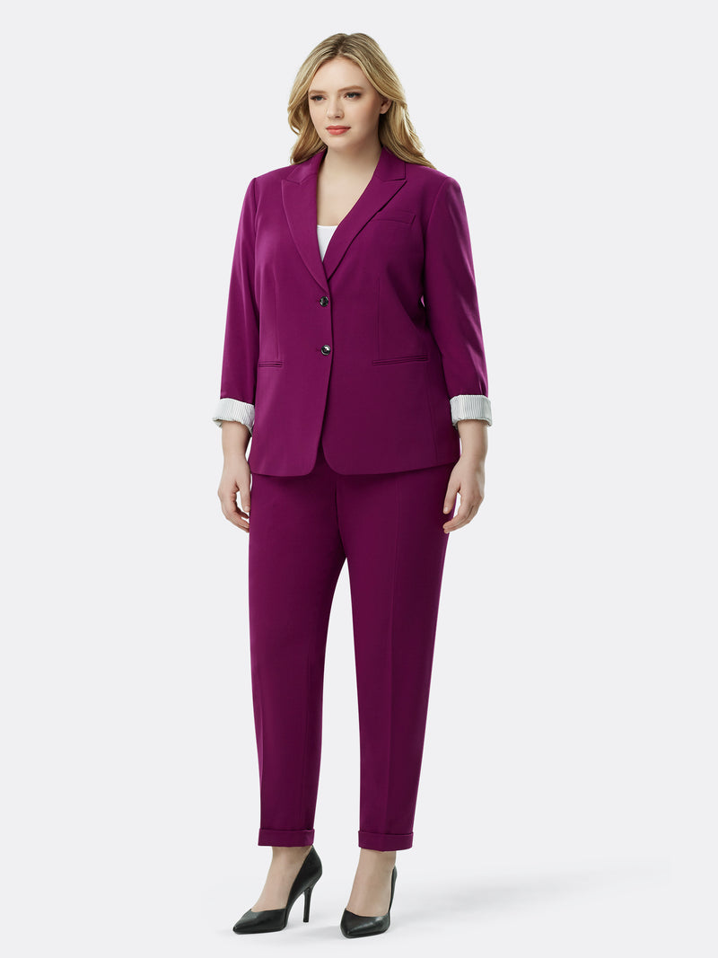 Roll-Cuffed Bi-Stretch Pantsuit