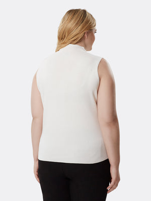 Ribbed Mock-Neck Top