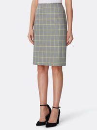 Windowpane Plaid Skirt Suit