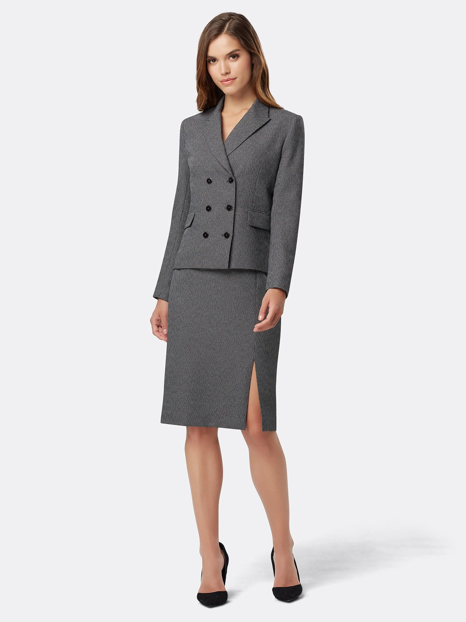 82ed1845db8 Double-Breasted Textured Skirt Suit – Tahari ASL