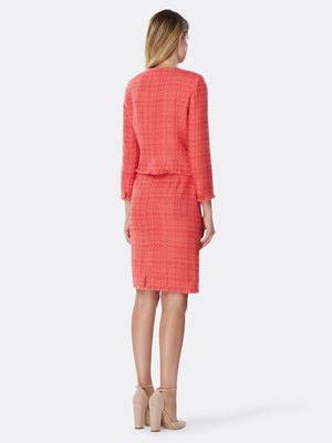Fringe-Trimmed Bouclé Skirt Suit