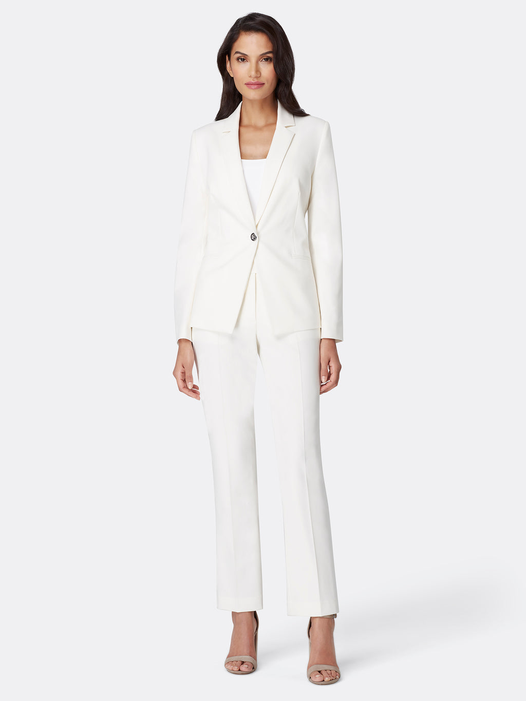 Bi-Stretch One-Button Pantsuit