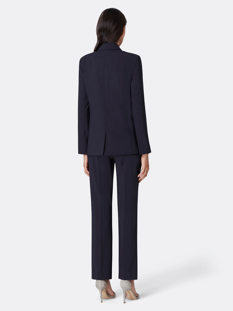 Shadowstripe Double Breasted Pant Suit