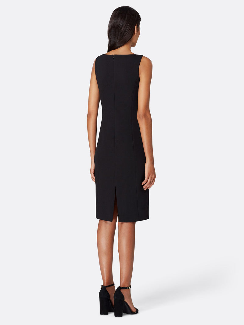 Back View of Women's Designer Black Dress by Tahari ASL