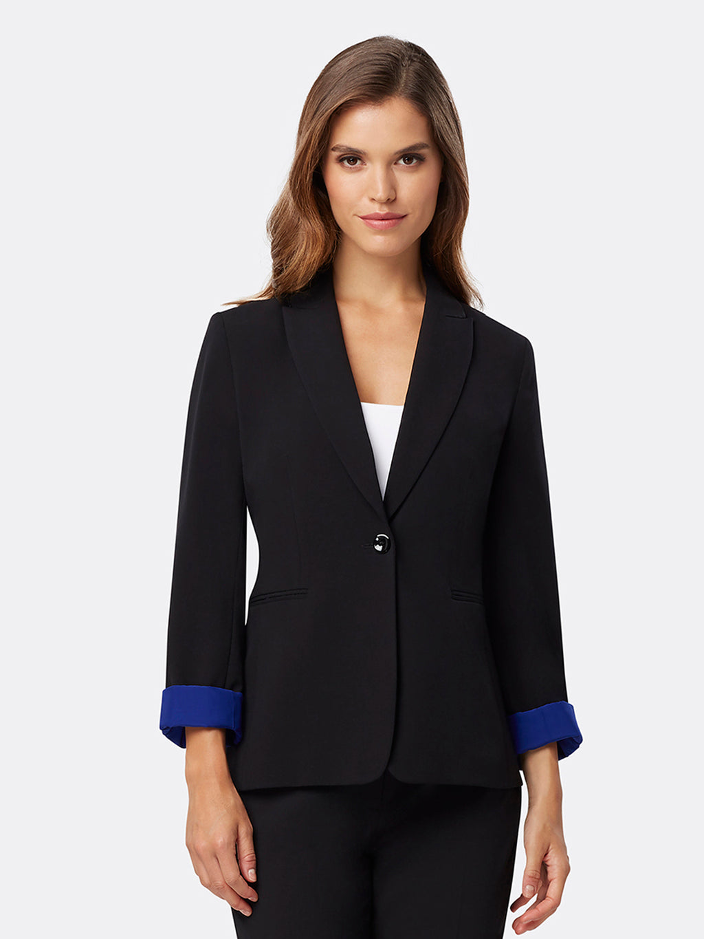 Contrast Cuffed Bi-Stretch Jacket