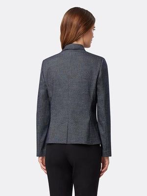 Texture Striped Notch-Collar Jacket
