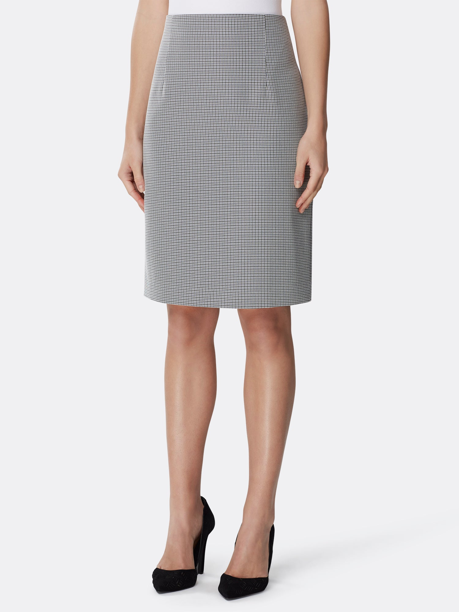 3966d02d3 High-Waist Houndstooth Skirt – Tahari ASL