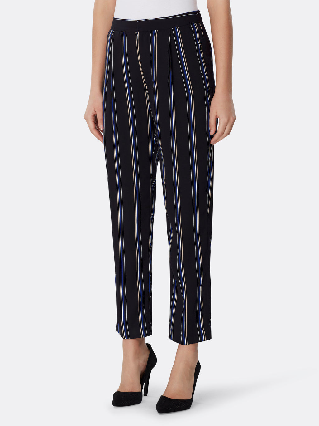 Variegated Striped Georgette Pants