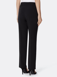 Crepe Pant With Contrast Stripe
