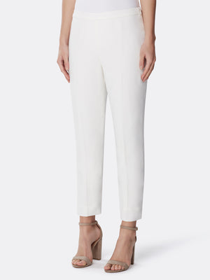 Skinny Side-Zip Crepe Pants