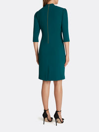 Scuba Crepe Side-Ruched Dress