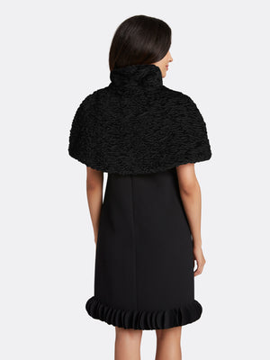 High Collar Faux Fur Capelet