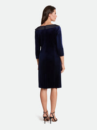 Velvet/Satin Portrait Collar Dress