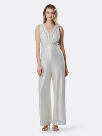 Metallic Jacquard Knit Jumpsuit