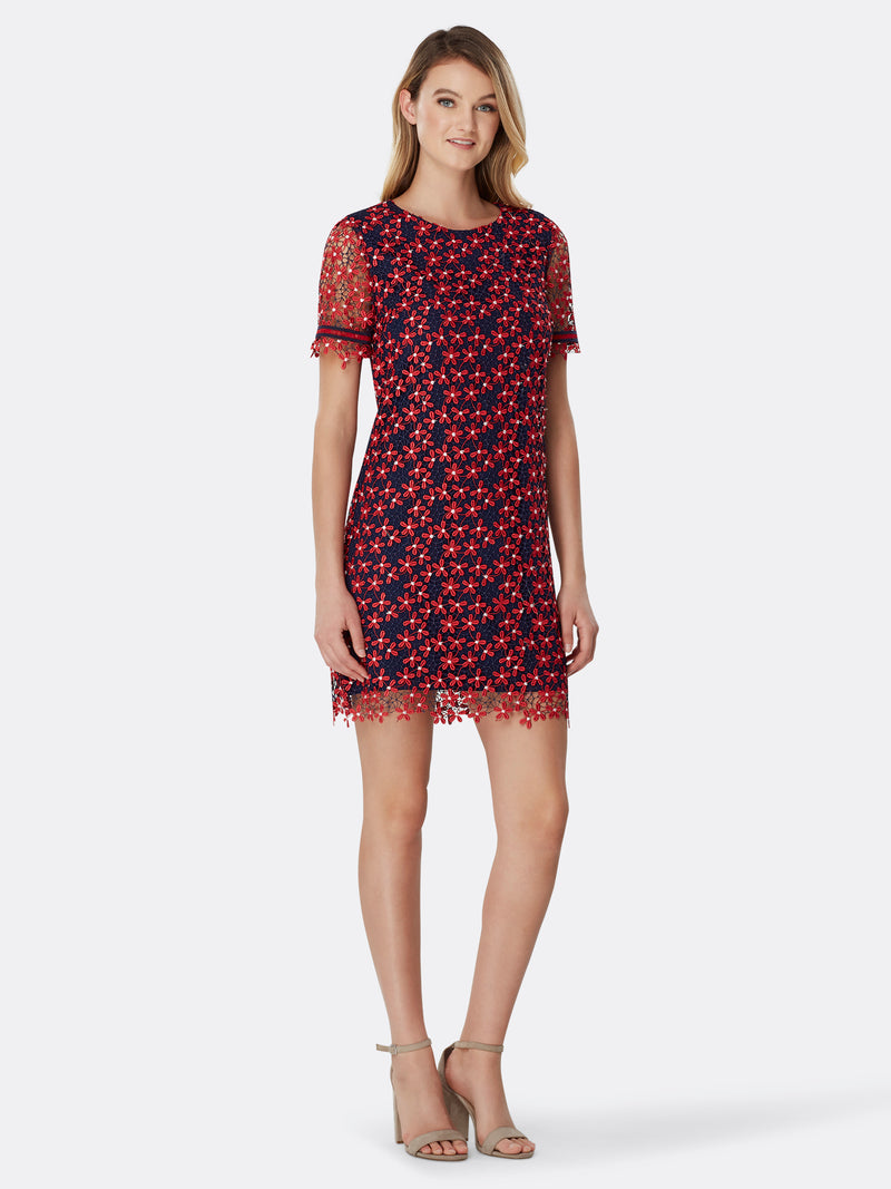 Daisy Lace A-Line Shift Dress