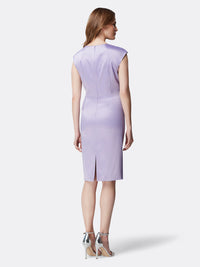 Matte Satin Side-Ruched Dress