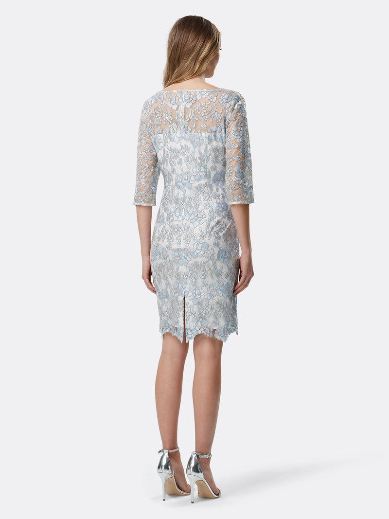 Embroidered Lace Sheath Dress