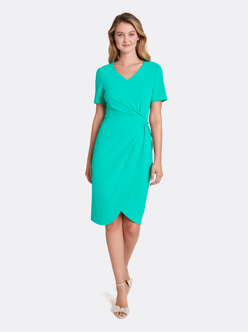 Scuba Crepe Side-Knot Dress