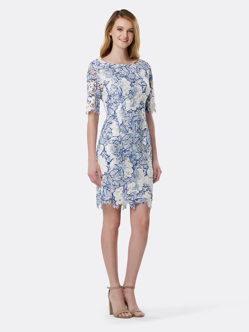 Front View of Women's Designer Sheath Dress by Tahari ASL