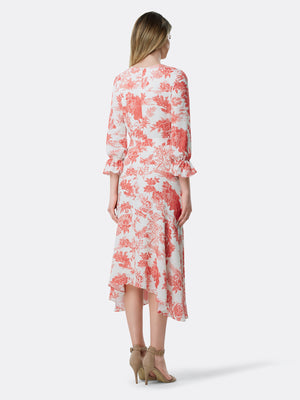 Country Toile Handkerchief Hem Dress