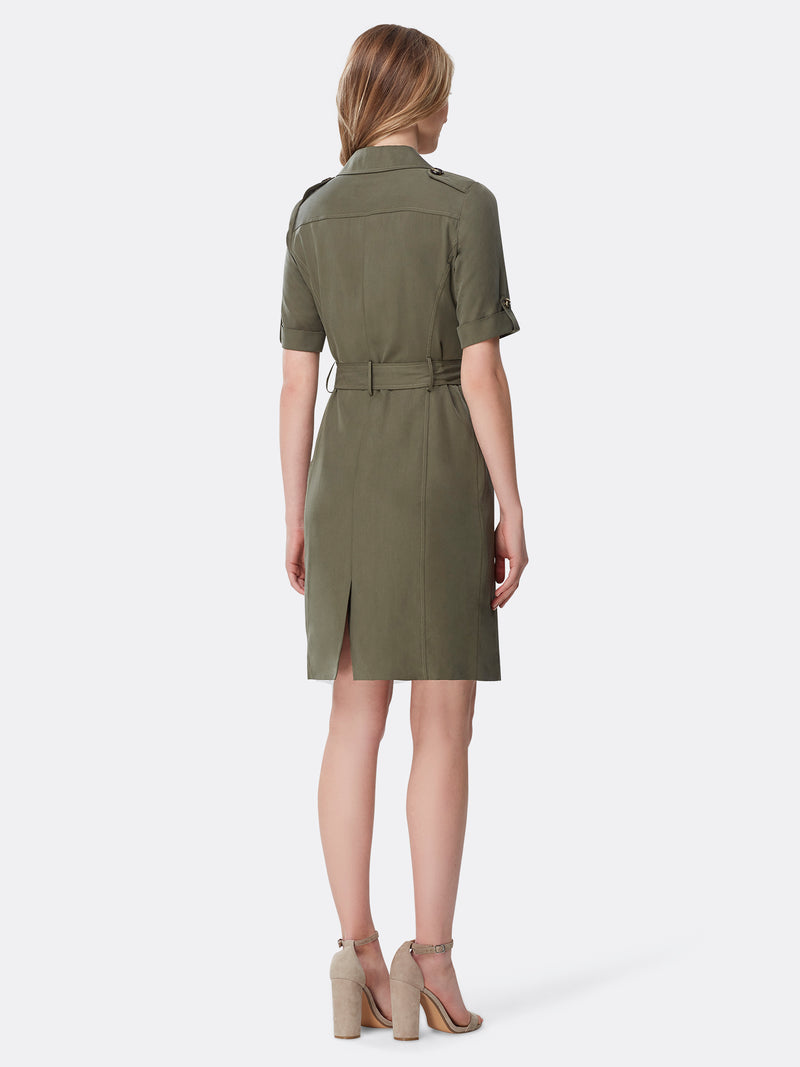 Button-Front Coatdress