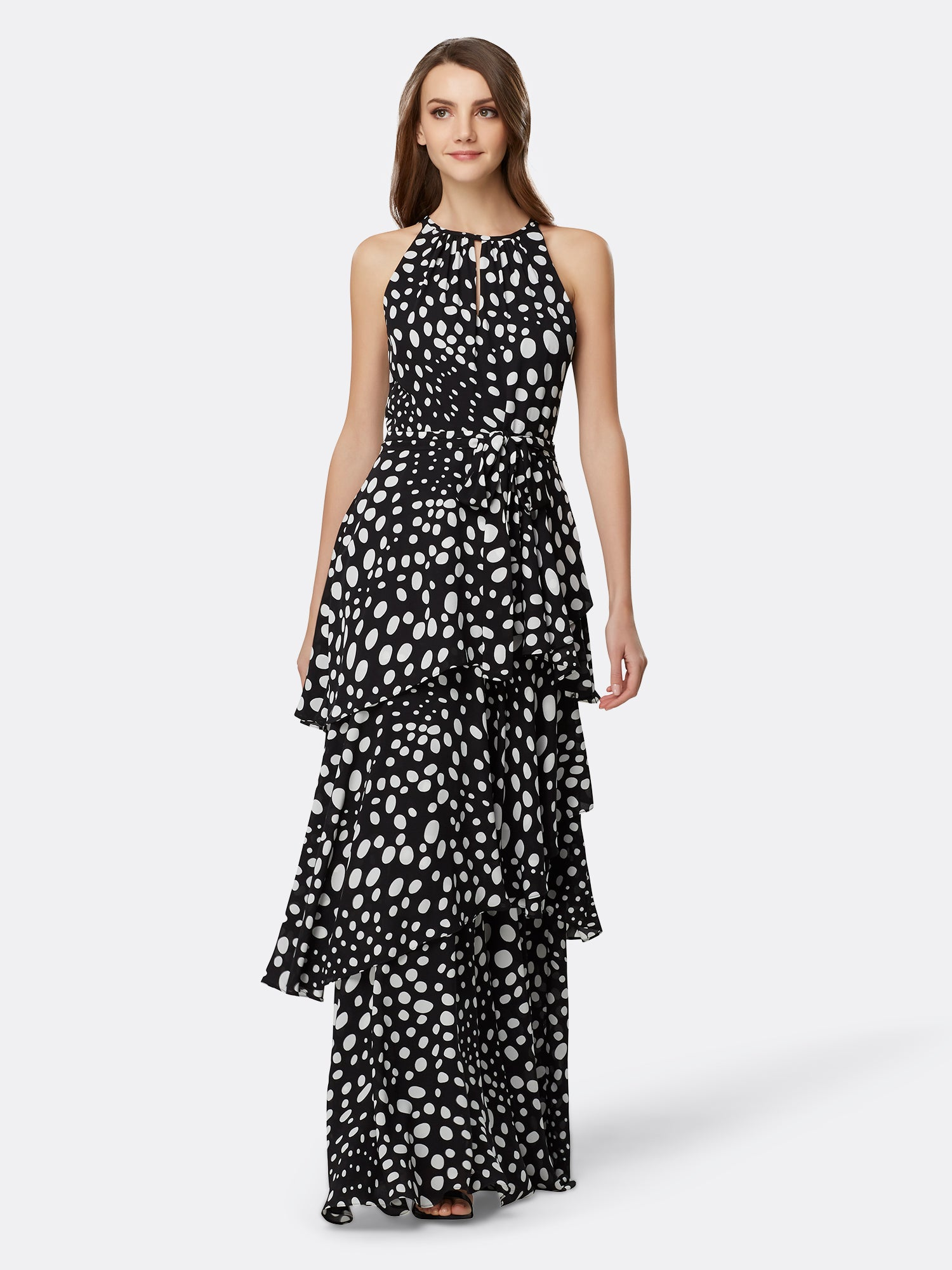 8813cf06e6ec Tiered Ruched Neck Gown – Tahari ASL