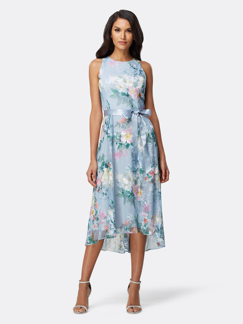 Printed Floral Cocktail Dress