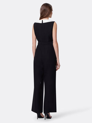 Back View of Women's Luxury Woven Jumpsuit Romper by Tahari ASL