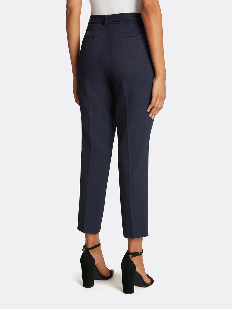 Parker Twill Tie-Waist Ankle Pants