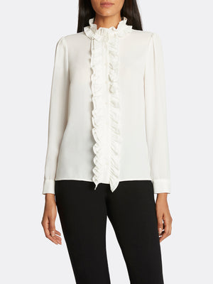 Georgette Ruffled Blouse