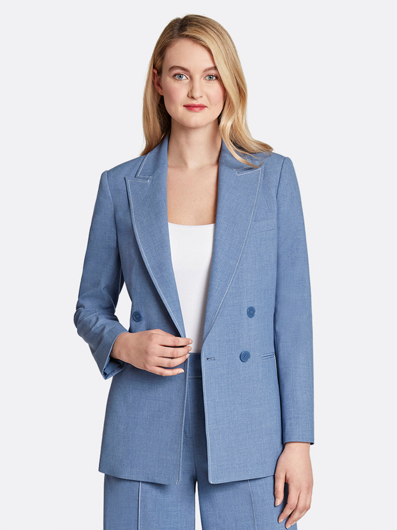 Bi-Stretch Double-Breasted Jacket