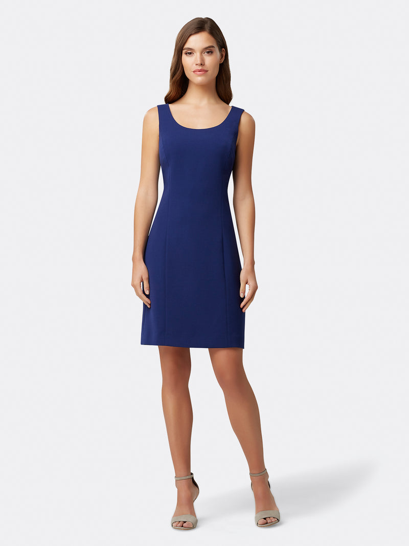 Seamed Crepe Dress