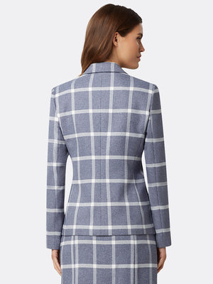 Mélange Windowpane Plaid Jacket
