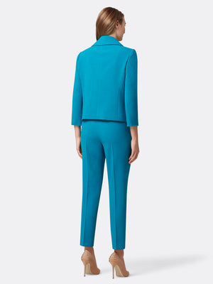 Wrap Pebble Crepe Pantsuit