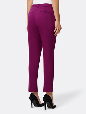 Woman Wearing Mulberry Ankle Pants | Tahari ASL Mulberry