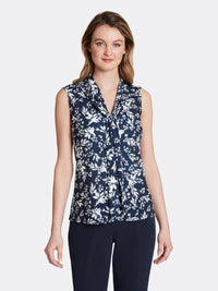 Floral Double-Sash Top