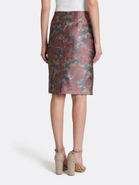 Metallic Jacquard Skirt Suit