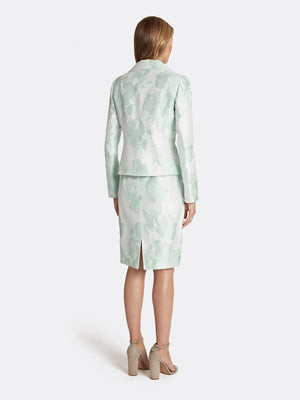 Jacquard Portrait Collar Skirt Suit