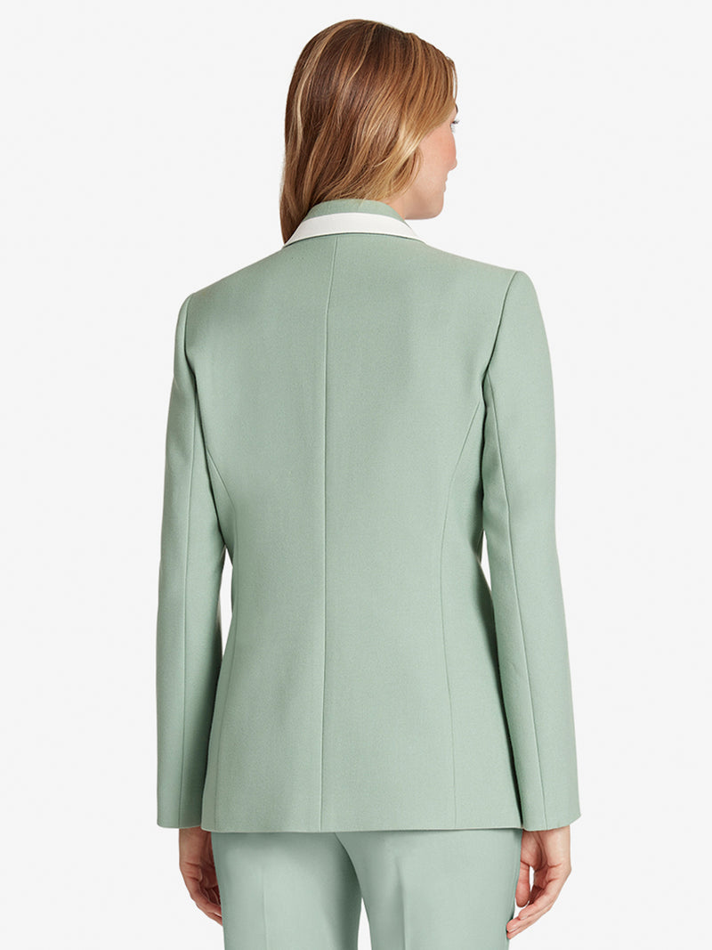 Piped Notch-Collar Jacket