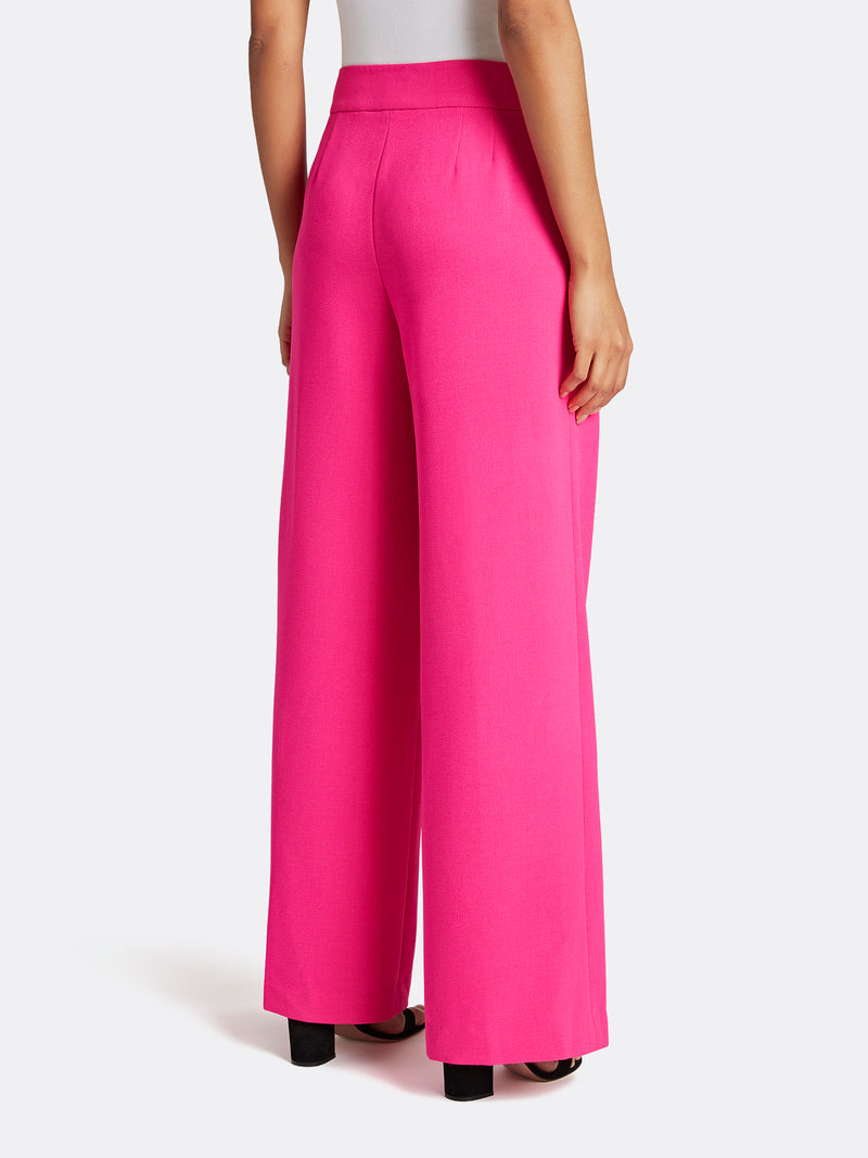 Pebble Crepe Wide-Leg Pants