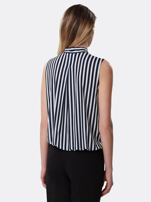 Sleeveless Tie-Neck Jersey Top