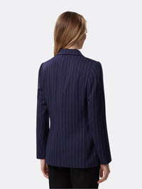 Back View of Women's Designer Two Button Jacker by Tahari ASL