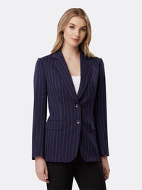 Front View of Women's Designer Two Button Jacker by Tahari ASL