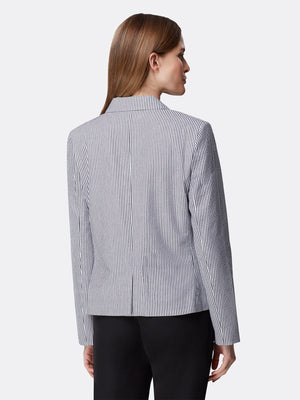 Back View of Women's Designer Double Welt Pocket Jacket by Tahari ASL